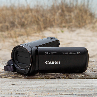CANON<sup>®</sup> Vixia HF R800 Camcorder - Compact and easy to use, this camera delivers breathtaking full HD video. Features 57x Advanced Zoom and SuperRange Optical Image Stabilization, 3.28 Megapixel Full HD CMOS sensor, DIGIC DV 4 image processor and 3.0-inch Captive Touch Panel LCD screen.