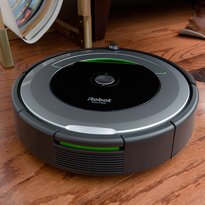 ROOMBA<sup>®</sup> iRobot<sup>®</sup> Vacuum Cleaning Robot - Patented 3-Stage Cleaning System removes dirt, dust and other debris from your floors using this vacuum robot.  Dirt Detect sensors alert the Roomba to clean more thoroughly when encountering concentrated areas of dirt. Use the iRobot HOME app to clean and schedule your robot vacuum at any time.