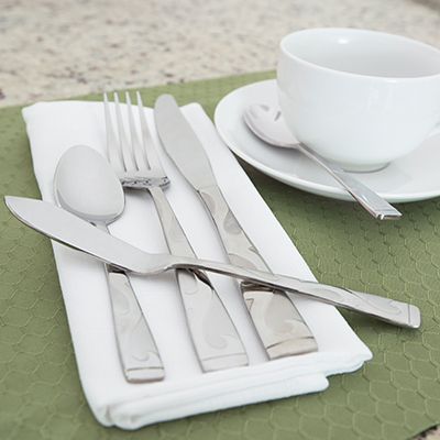 ONEIDA<sup>®</sup> Tuscany 45-Piece Flatware Set - For everyday use or special occasions, this flatware set is stylish and durable.  Made of 18/0 stainless steel, set is dishwasher safe and never needs polishing.  Set includes 8 each of salad forks, dinner forks, dinner knives, dinner spoons and teaspoons.
